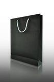 Black paper shopping bag Stock Images