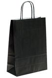 Black paper shopping bag Stock Photography