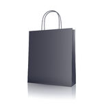 Black paper shopping bag Royalty Free Stock Photos