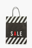 Black paper shopping bag . Royalty Free Stock Photos