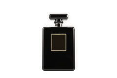 Black parfum bottle. Royalty Free Stock Image