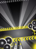 Black party/event design Royalty Free Stock Photo