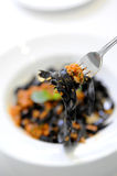 Black pasta Stock Image