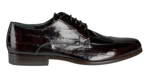 Black patent leather male shoes Stock Images