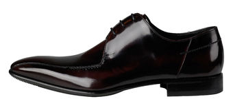 Black patent leather male shoes Royalty Free Stock Images
