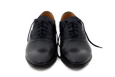 Black patent leather men shoes isolated on white Royalty Free Stock Image