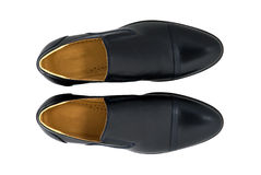 Black patent leather men shoes isolated on white Royalty Free Stock Photo
