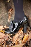 Black Patent leather Shoes Stock Photos