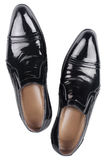 Black patent leather shoes  Stock Image