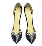 Black patent leather women's high heels Royalty Free Stock Photo
