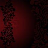 Black pattern on a dark background Stock Photography