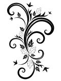 Black  pattern for decoration Stock Photo