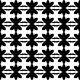 Black pattern floral seamless Royalty Free Stock Images