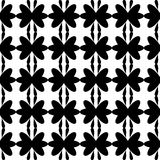 Black pattern floral seamless Stock Photos