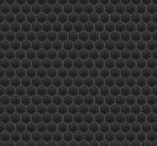 Black Pattern Hexagon Mosaic Stock Photography
