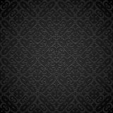 Black pattern. Ornamental black background, vintage dark pattern Royalty Free Stock Photo
