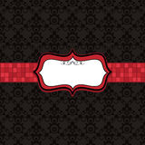 Black pattern and red frame Stock Photography