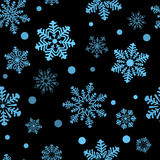 Black pattern from snowflake. Vector illustration Stock Images
