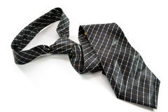Black Pattern Tie Stock Photo