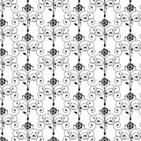 Black pattern on transparent background. Monochrome abstract pattern Royalty Free Stock Photos