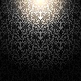 Black pattern Wallpaper on the wall. Royalty Free Stock Photography