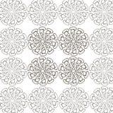 Black pattern on a white background vector illustration