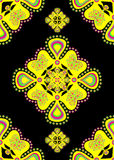 black pattern yellow 库存例证
