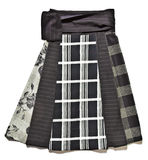 Black patterned skirt Royalty Free Stock Photos