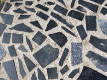 Black pavement Royalty Free Stock Images