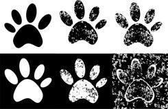 Black Paw Print Royalty Free Stock Photography