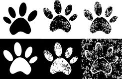 Black paw print. Vector - Black paw print  grunge Royalty Free Stock Photography