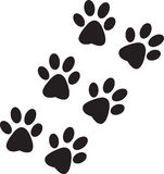 Black paw prints Royalty Free Stock Image