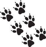 Black paw prints Royalty Free Stock Photo