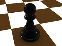 Black pawn Royalty Free Stock Photo