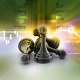 Black pawn Stock Images