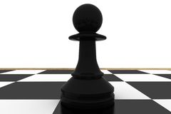 Black pawn on chess board Royalty Free Stock Photography