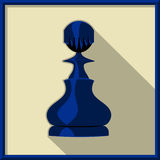 Black pawn. Chess. Black pawn on a white background Stock Photography