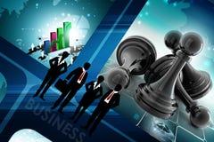 Black pawn Royalty Free Stock Photo