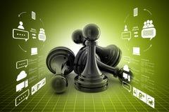 Black pawn  on colour Stock Photo