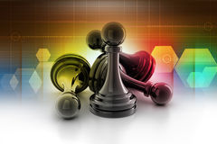 Black pawn isolated Royalty Free Stock Photo