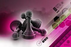 Black pawn Stock Photos