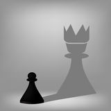 Black Pawn Royalty Free Stock Images