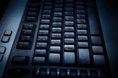 Black PC keyboard. royalty free stock photos