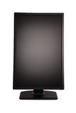 Black PC monitor (Clipping path) Royalty Free Stock Images