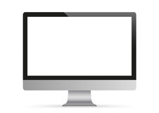 Black PC Monitor Mockup Stock Image