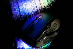 Black pc mouse Royalty Free Stock Image