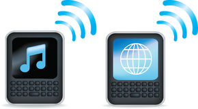 Black pda or mobile phone Stock Photography