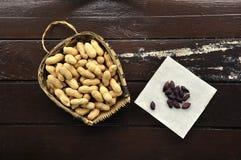 Black peanuts royalty free stock photo