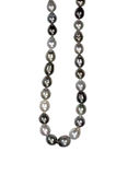 Black pearl beads necklace Stock Image