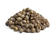Black Pearl. Elite Chinese tea Black Pearl isolated on white background royalty free stock image